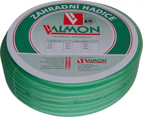 "VALMON Zahradní hadice PVC 3/4"" x 20m - Pmax 8 BAR"