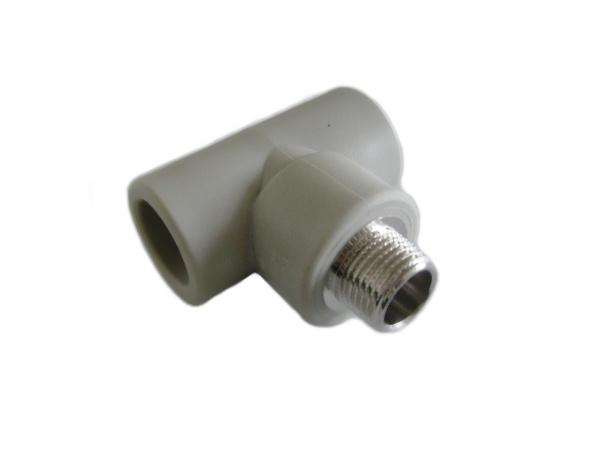 """Aquaplast PPR T-kus s kovovým závitem vnějším 25 x 3/4"""""""