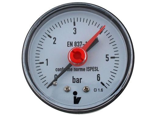 Tlakomer 0 6bar Dn63 1 4 Zadni Vyvod Aquatopshop Voda