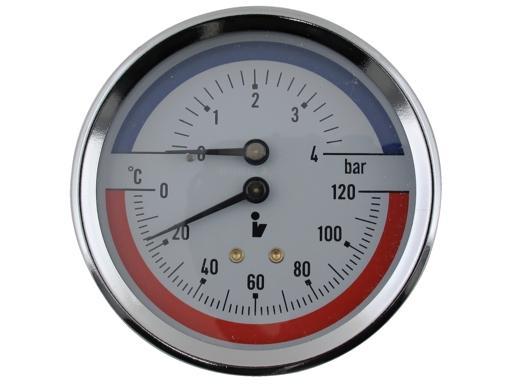Termomanometr 0 4bar 0 120 C 1 2 Zadni Vyvod Aquatopshop Voda