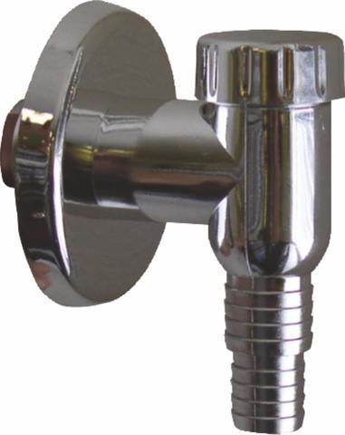 Plast Brno Sifon pračkový venkovní chromový s klapkou, DN 32