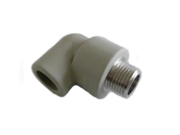 """Aquaplast PPR koleno s kovovým závitem vnějším 20 x 1/2"""""""