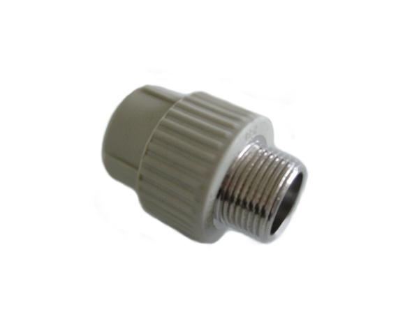 """Aquaplast PPR DG přechodka s kovovým závitem vnějším 20 x 3/4"""""""