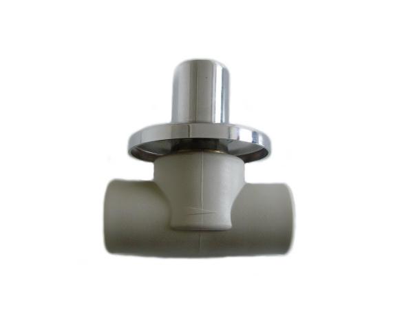 Aquaplast PPR ventil podomítkový 20mm s chromovanou hlavicí