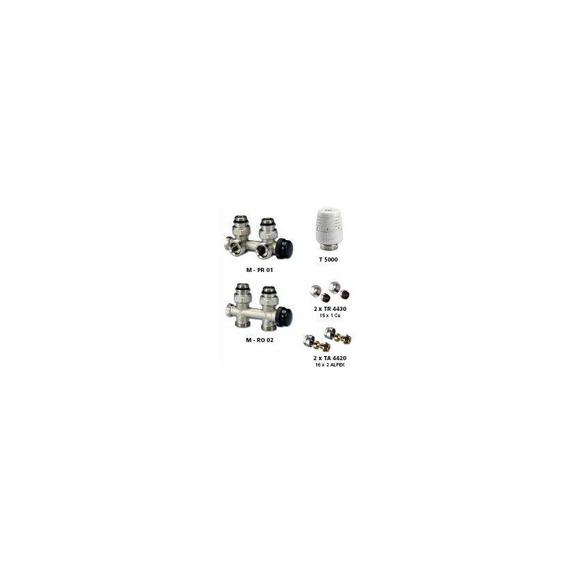 IVAR KIT kompletní koupelnový set RO02 rohový CU 15x1