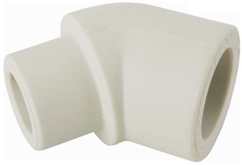 Aquaplast PPR koleno 45° 20 mm čepové