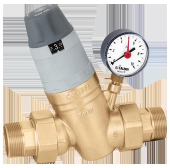 """Caleffi 5350 Membránový regulátor tlaku vody s manometrem 6/4"""""""